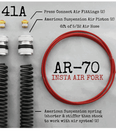 AR-70/41A Fork Tube Air Ride Kit