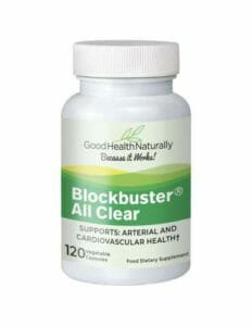 Blockbuster allclear supplements for clogged arteries