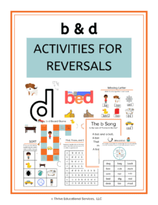 multi-sensory activities for b and d reversals