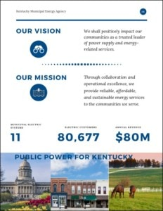 Page from KMYEA's strategic plan