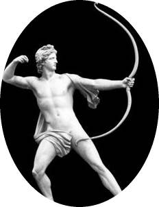 Greek God Apollo Discharging his Bow
