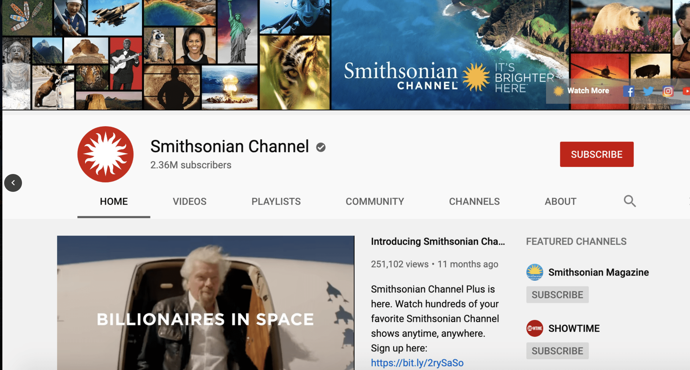 YouTube banner ideas and examples