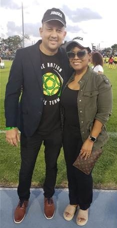Jamaica's Consul General Oliver Mair Camile Glenister, Deputy Director of Tourism, Marketing at the Jamaica Tourist Board (JTB) during the Reggae Girlz World Cup Send-Off in South Florida