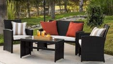 4-Piece Outdoor Wicker Furniture Set