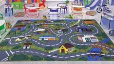 Ottomanson Jenny Collection Grey Road Traffic Design Area Rug