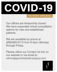 Gemini Plastic Surgery COVID-19 Office Hours