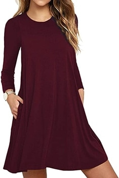 t-shirt dress to hide your belly | 40plusstyle.com