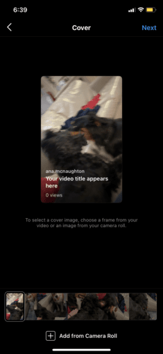IGTV video thumbnails for Instagram