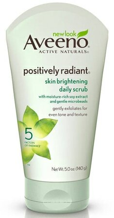 Aveeno Positively Radiant Skin Brightening Exfoliating Daily Facial Scrub | 40plusstyle.com