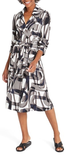 A shirt dress to hide your tummy area | 40plusstyle.com