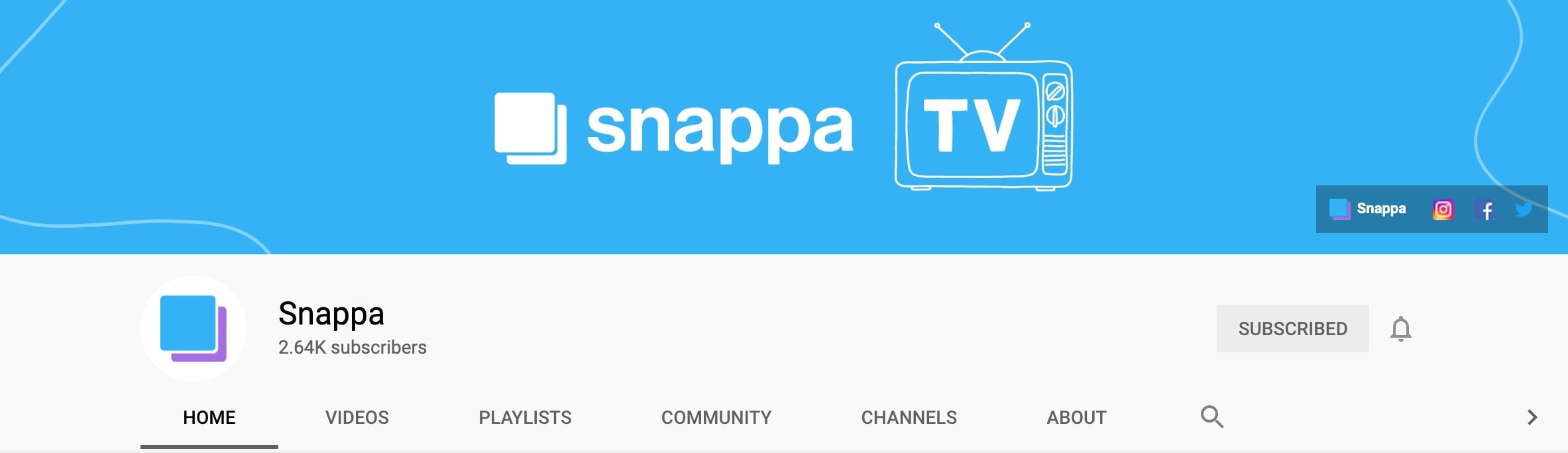 Snappa YouTube channel art example