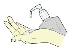 lubricant is applied on a hand for jelqing