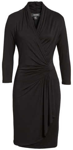 the most chosen stylish clothes of the year - Karen Kane faux wrap dress | 40plusstyle.com