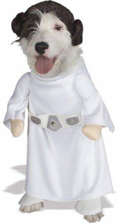 Princess Leia Dog Halloween Costume