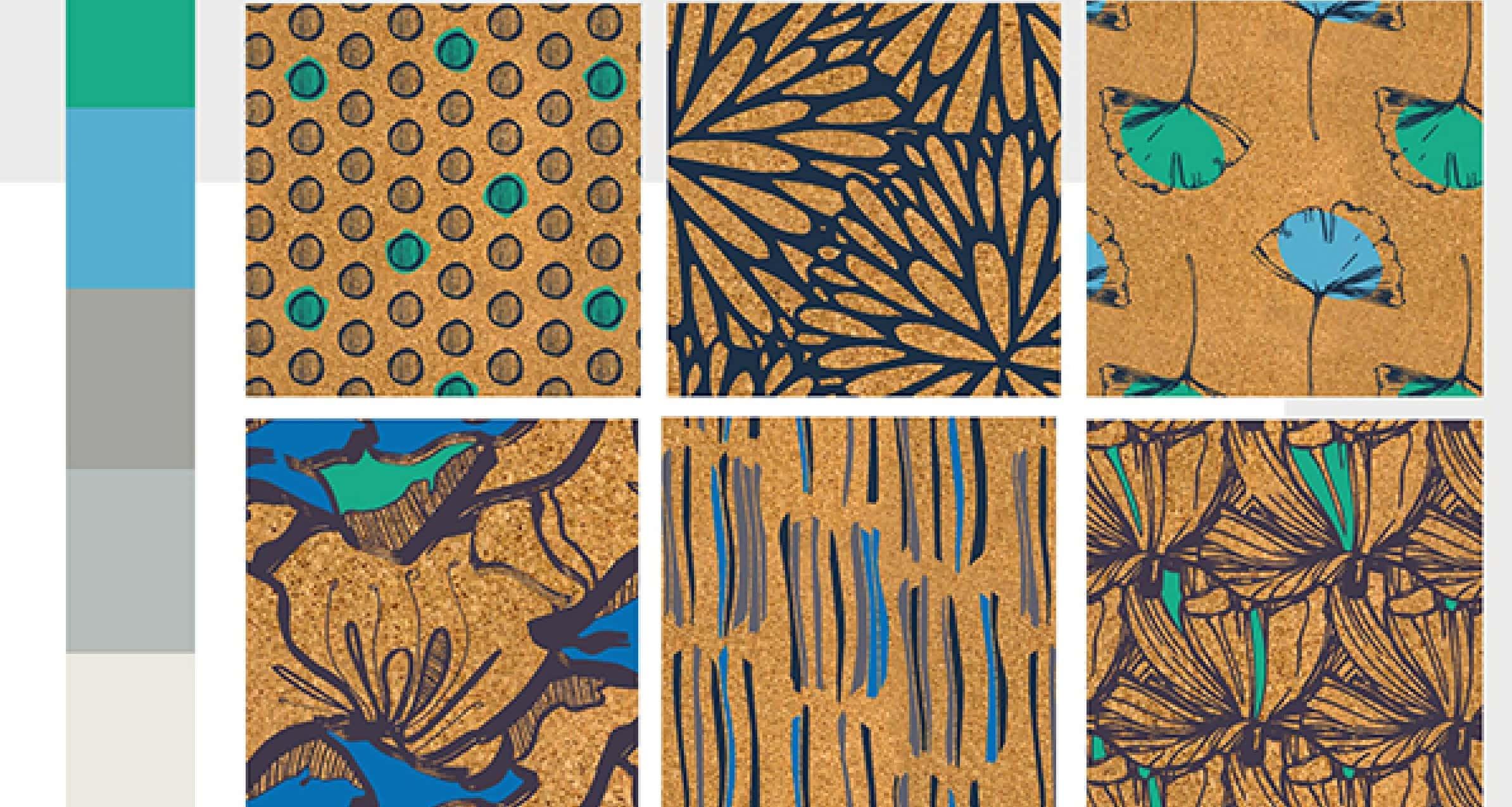 Nieto's winning RSA textile designs.