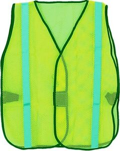 Lime Safety Vest with Reflective Lime Stripe