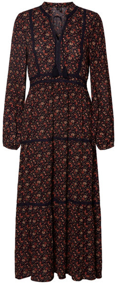 VERO MODA boho long sleeve maxi dress | 40plusstyle.com