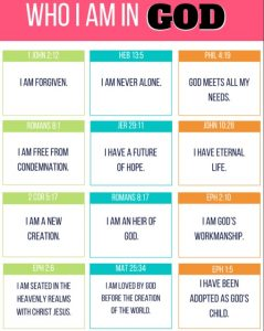 Christian Affirmations print out