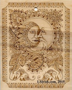 Henna Tattoo Moon Face Plaque