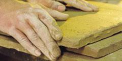 tomettes modelées main