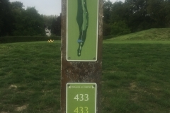 Tee 3, Mérignies Golf Country Club, Parcours La Valutte, Distance 433m, Distance 395m, Distance 383m, Par 5