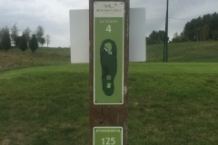 Tee 4, Mérignies Golf Country Club, Parcours La Valutte, Distance 125m, Distance 120m, Distance 100m, Distance 96m, Par 3