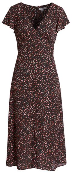 BB Dakota confetti midi dress | 40plusstyle.com