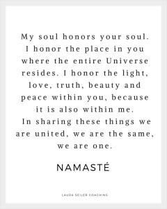 Namaste Laura Seiler Life Coaching