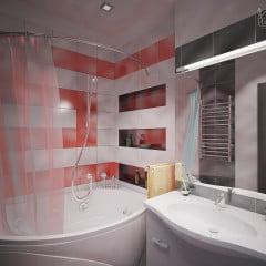 Удачный дизайн для ванной комнаты площадью 7 кв.м