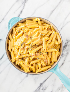 Butternut Squash Sage Bacon Mac n Cheese + 4 Steps to Fancy Up Your Mac n Cheese