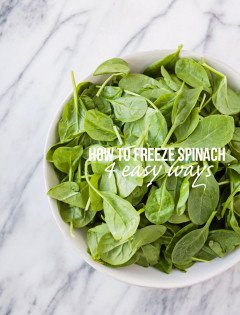 How to Freeze Spinach - 4 Easy Ways