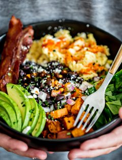 Southwest Protein Breakfast Bowls with Sweet Potato and Black Beans