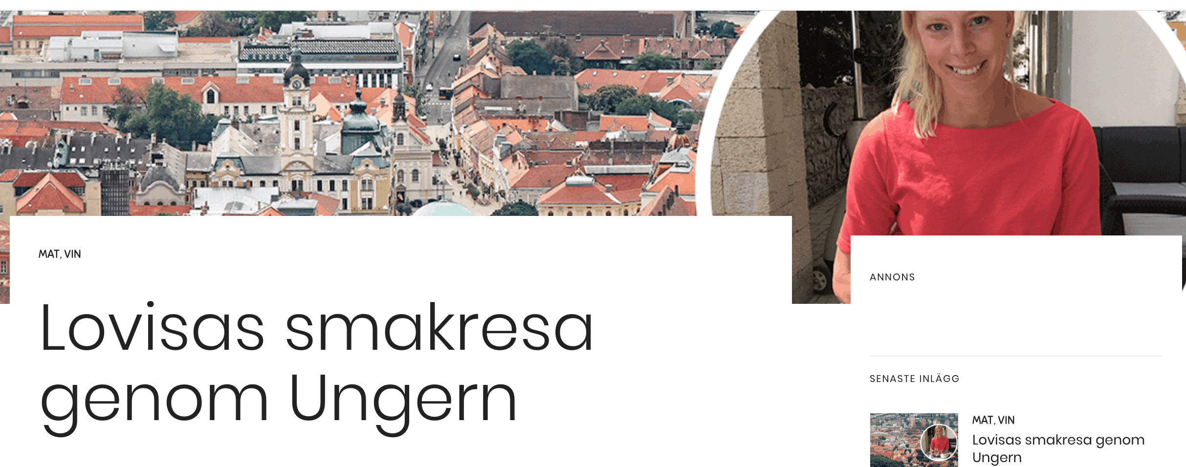Lovisas smakresa genom Ungern – repris!