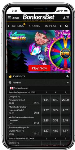 BonkersBet-mobiele-website