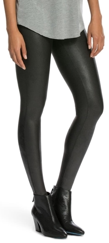 SPANX faux leather leggings | 40plusstyle.com