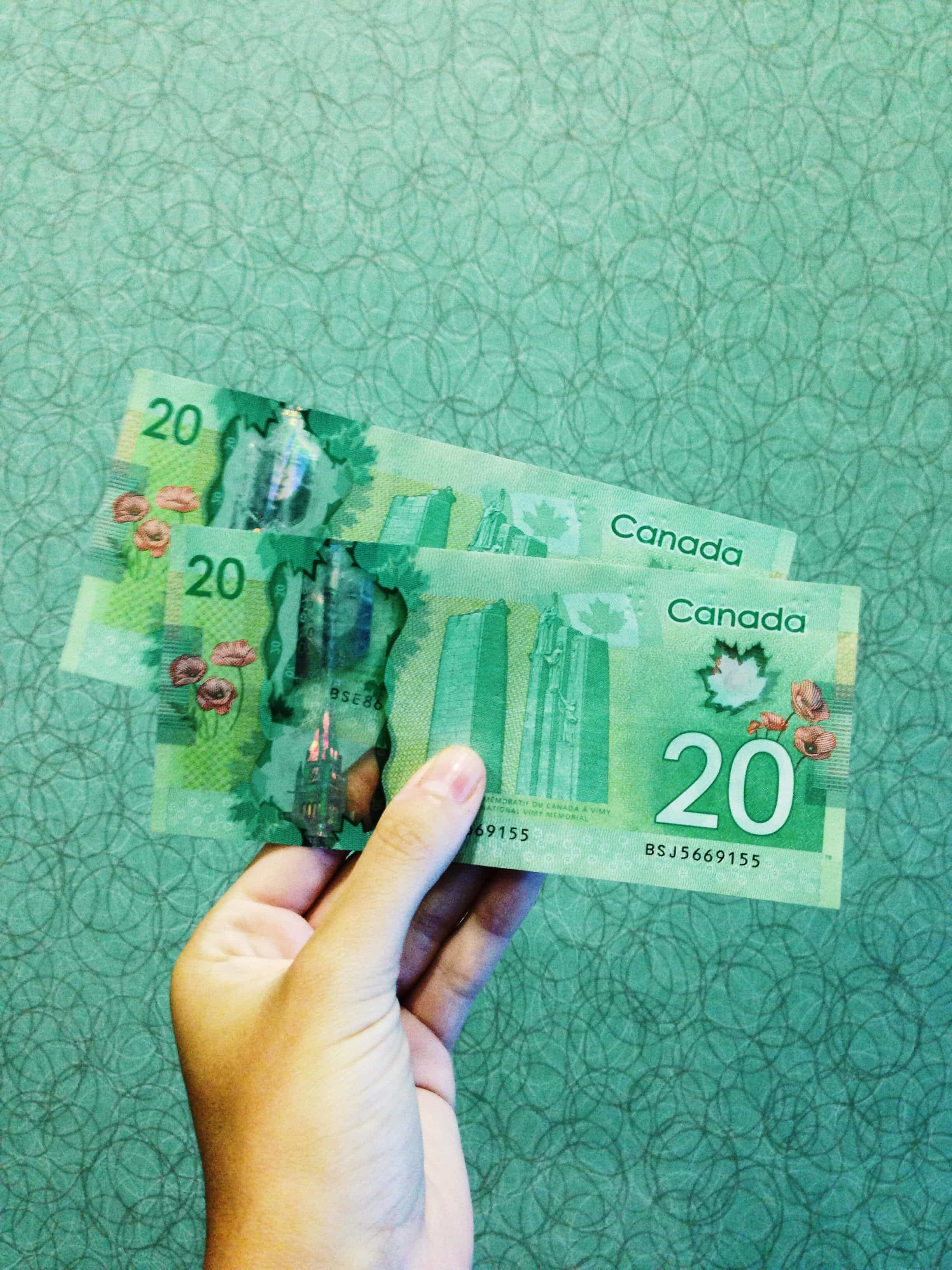 Working Canadian government requires proof of CAD$2500 to support yourself and an onward/return flight. If you don't have any outbound flights booked, enough funds would also be ok. We quickly found out that money in Canada, especially in Vancouver, won't get you far.