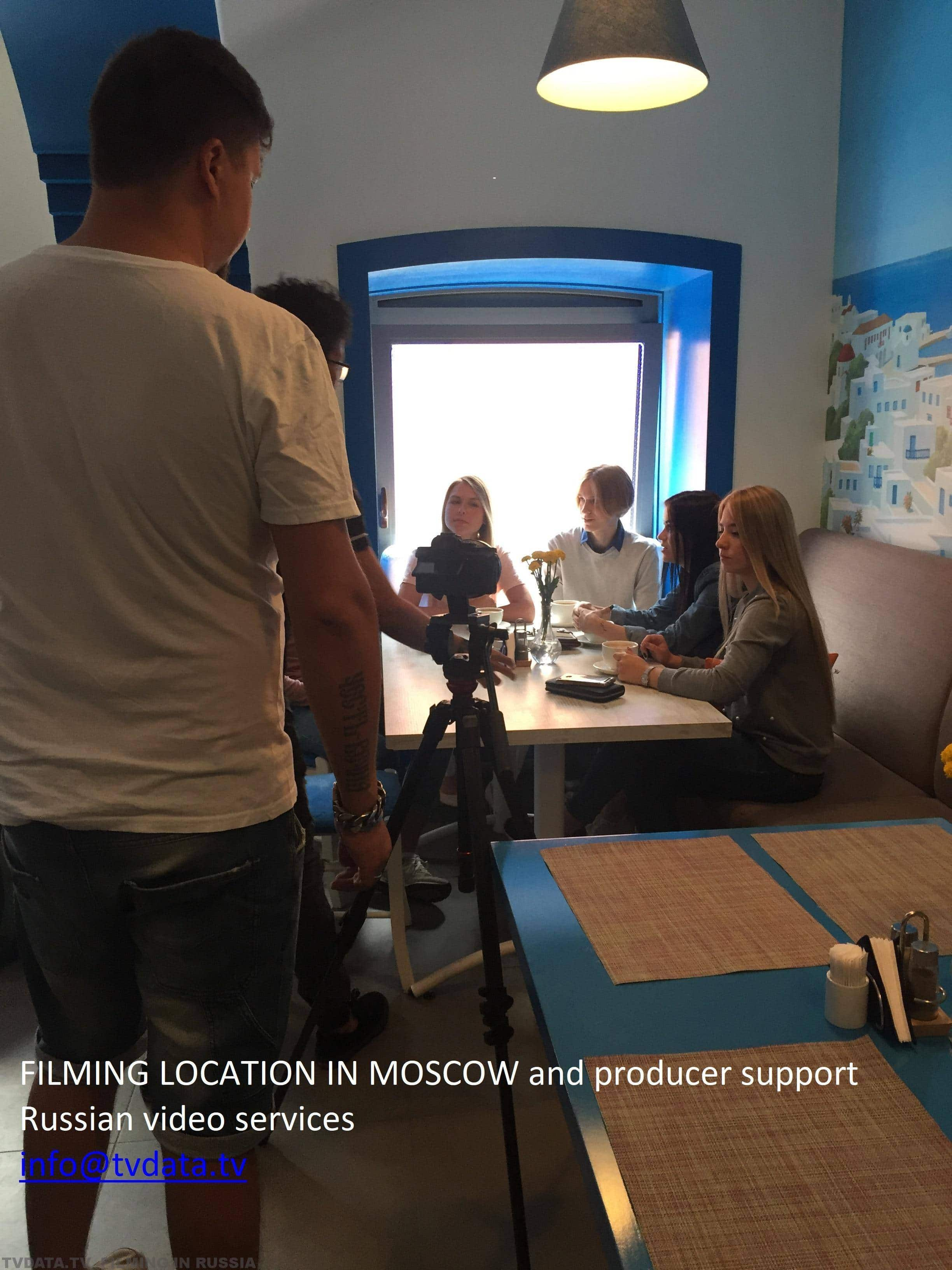 FILMING LOCATION IN MOSCOW and producer support Russian video services info@tvdata.tv