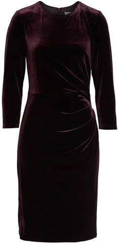 Eliza J velvet sheath dress | 40pusstyle.com