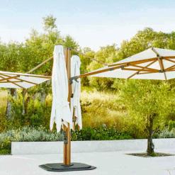 Jardinico JCP.501 Quad Sidepost Two Umbrella - White