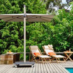 Jardinico JCP.301 Umbrella, Pool Side - Flat White