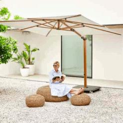 Jardinico JCP.301 Umbrella, Lounge Setting - White
