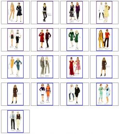 Sewing patterns winter No. 271