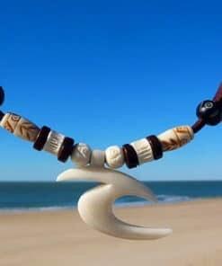 Surferkette Anhänger Halskette Lederkette