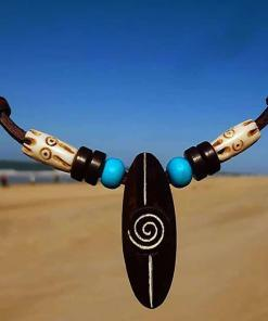Surferkette Lima Halskette Lederkette