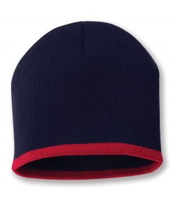 "SPORTSMAN BOTTOM STRIPE KNIT 8"" TUQUE"