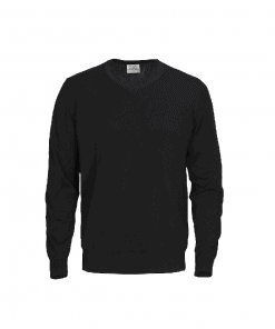 Printer knitted V-neck Forehand Men Sweater