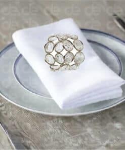 Round Diamond Napkin Ring
