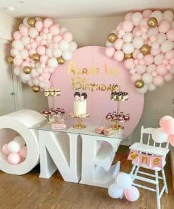 Kiddies Backdrop and Number One Table Combo