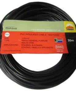 House Wire 1.5mm x 30m Black