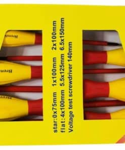 Brentwood Screwdriver Set 7pc Red and Yellow